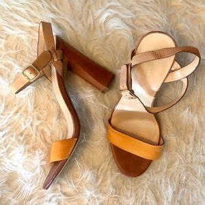 COLE HAAN NIKE AIR Minetta SANDALS Leather Heel